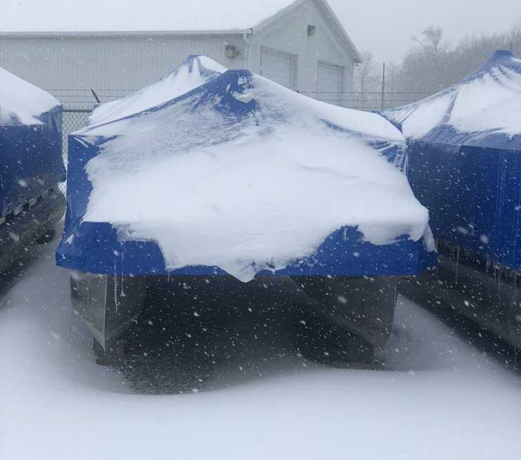 winter pontoon storage